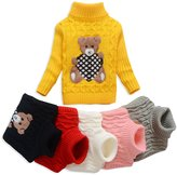 Anluke Cute Cool Kid Turtleneck Sweaters For Christmas Halloween (Girls Boys Baby) (24M,)