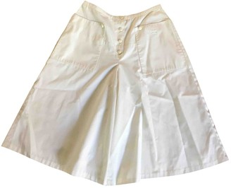 Courreges White Cotton Skirt for Women Vintage