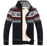 Kedera 2016 Fashion Winter Wool Cardigan Men's Casual Thick Warm Sweater