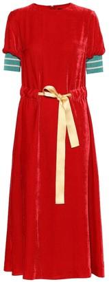 Undercover Silk-blend velvet midi dress