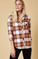 Honey Punch Flannel Button-Down Shirt