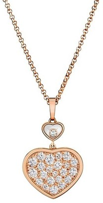 Chopard Happy Hearts 18K Rose Gold & Diamond Pendant Necklace