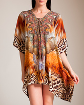 Camilla El Salvaje Short Lace-Up Kaftan