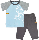 Kushies Light Blue On Safari Raglan Tee & Pants - Infant