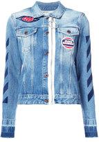 Off-White patches denim jacket - women - Cotton - 40