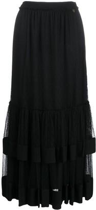 Twin-Set layered gathered tulle skirt