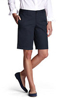 Classic Women's Plain Front Blend Chino Shorts Navy Large Plaid