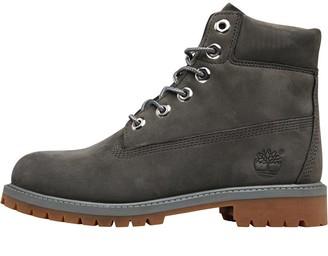 Timberland Junior 6 Inch Premium Boots Coal