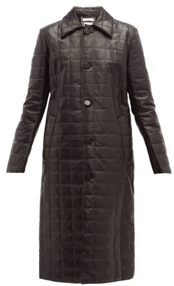 Bottega Veneta Quilted-leather Down-filled Coat - Womens - Black