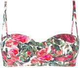 Dolce & Gabbana rose print balconette bikini top - women - Polyamide/Spandex/Elastane - 4