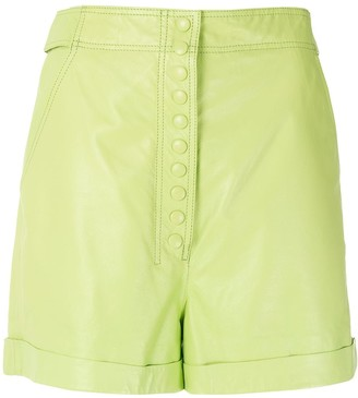 Nk Buttoned Leather Shorts