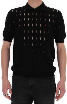 Fendi Cut-Out Detail Polo Shirt