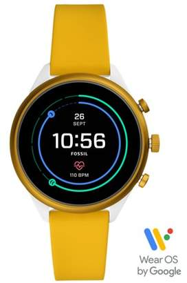 Fossil Sport Smartwatch 41Mm Yellow Silicone jewelry