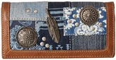 American West Indigo Flap Wallet Wallet Handbags
