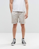 Brooklyn Supply Co. Brooklyn Supply Co Skinny Chinos Shorts In Beige