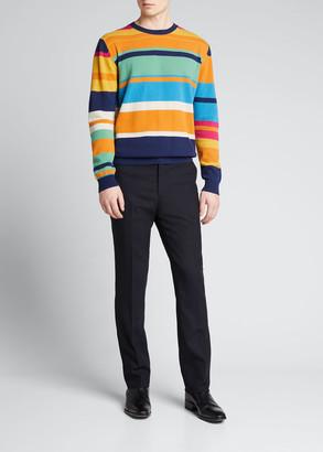 Etro Men's Multi-Stripe Wool Sweater