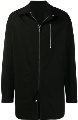 Rick Owens Zip Front Shirt Jacket