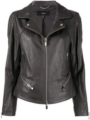 Arma slim-fit zip-up biker jacket