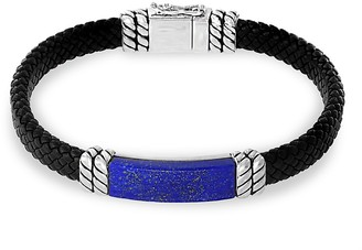 Effy Leather, Lapis Lazuli Sterling Silver Bracelet