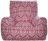 Lelbys Damask Kids Bean Chair Cover, PinkandWhite
