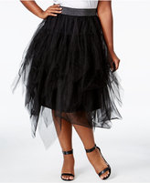 Melissa McCarthy Trendy Plus Size Tulle A-Line Skirt