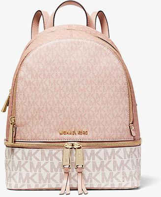 Michael Kors Rhea Medium Color-Block Logo Backpack