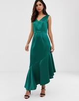 Closet London Closet asymmetric frill dress
