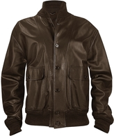 Schiatti & Co. Men's Dark Brown Italian Nappa Leather Two-Pocket Jacket