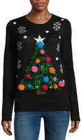 Disorderly Kids Ugly Christmas Tree Sweater-Juniors