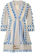 Dodo Bar Or - Tasseled Striped Cotton-gauze Mini Dress - Cream