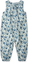 Ralph Lauren Cotton Poplin Floral-Print Playsuit, Size 3-12 Months