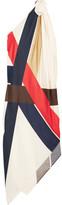 Eres Suzy One-shoulder Asymmetric Printed Silk Maxi Dress - Red