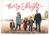 Minted Merry & Bright Hand Lettered Holiday Postcards