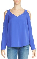1 STATE 1.STATE V-Neck Cold Shoulder Blouse