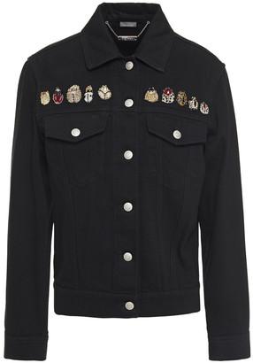 Alexander McQueen Embellished Embroidered Denim Jacket