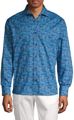 Bertigo Printed Button-Down Shirt