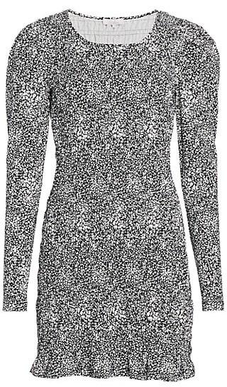 Parker Brooklyn Puff-Sleeve Smocked Mini Dress