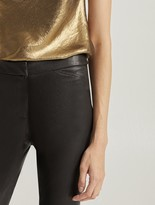 Halston Heritage Womens Fitted Stretch Leather Leggings