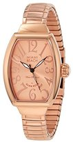 Glam Rock Women's MBD27098 Miami Beach Art Deco Rose Gold Tone Dial Rose Gold Ion-Plated Stainless Steel Watch