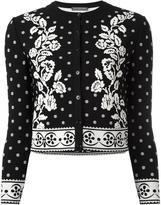Alexander McQueen floral jacquard cardigan - women - Polyamide/Polyester/Spandex/Elastane/Viscose - M