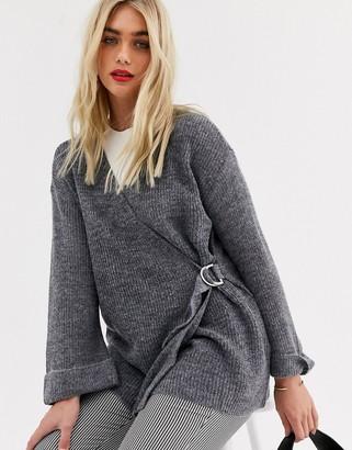 Y.A.S long sleeve cardigan-Grey