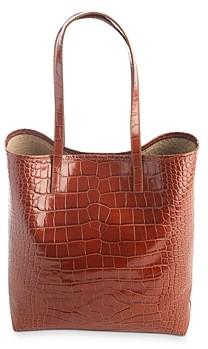 ROYCE New York Embossed Leather Tote Bag