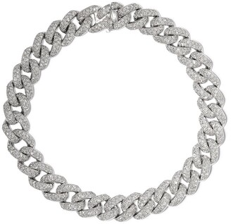 Shay 18kt White Gold Curb Chain Diamond Bracelet
