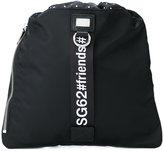 Dolce & Gabbana #friends drawstring backpack - men - Leather/Polyamide/Polyacrylic/Polypropylene - One Size