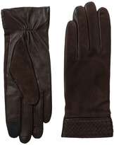 Cole Haan Braided Cuff Suede Gloves with Tech