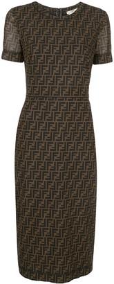Fendi FF motif mid-length dress