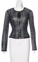 Giorgio Armani Leather Woven Jacket