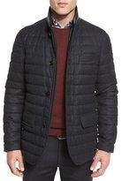 Ermenegildo Zegna Flannel Wool Channel-Quilted Down Jacket