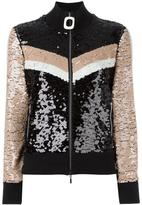 Aviu sequined zipped cardigan - women - Cotton/Acrylic/Polyamide/Spandex/Elastane - 40