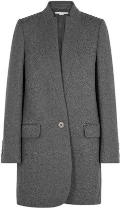 Stella McCartney Bryce grey wool-blend coat